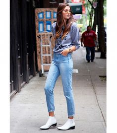 A+Street+Style+Denim+Look+For+Every+Day+Of+The+Month+via+@WhoWhatWear