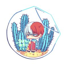 Awww my fiery icy prince❄❄❄❄❄ Do you want to plant a cactus?