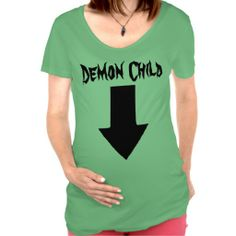 "Demon Child - Just Kidding! Tee Shirt - This humorous product is part of the Wacky Workshop ""Just Kidding"" collection on Zazzle.  To view the complete collection, please visit:  http://www.zazzle.com/yonniswackyworkshop/gifts?useTermPositions=False&cg=196669385414916684&rf=238368915417973707"