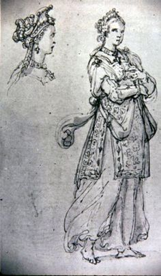 Costume study for a Lady masquer