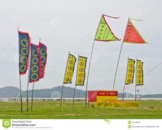 Chinese Vegetarian Festival Flags. Stock Photography - Image: 37479942