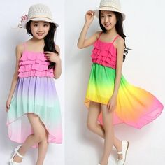 Cheap clothing sweater Buy Quality clothing christmas directly from China clothing gap Suppliers: 2015 summer girl candy color beach dress 3 4 5 6 7 8 9 10 11 12 13 years old chiffon girls baby girl cloth - March 09 2019 at Kids Outfits Girls, Cute Girl Outfits, Girls Fashion Clothes, Cute Outfits For Kids, Cute Summer Outfits, Summer Dresses, Girl Clothing, Stylish Clothes, Cheap Girls Clothes