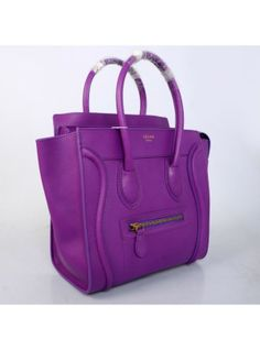 14f772f31b57 Celine Luggage Purple Small Handbag 26CM