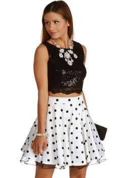 Kelly Black Two Piece Homecoming Dress | windsor