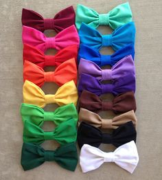 you absolutely need a bow in every color ever... i mean you cant have an outfit that doesnt match. RIGHT?!? - Drew