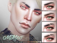 Realistic eyebrows in 18 colors. All ages, all genders. Found in TSR Category 'Sims 4 Hair Sets'