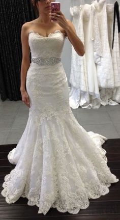 Pretty white prom dress, bridal gown, wedding dress