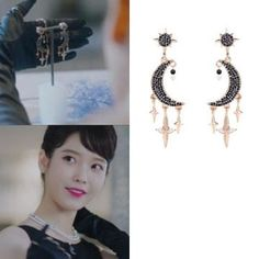 Feeling lavish and extravagant? Be like Jang Man Wol, the CEO of Hotel Del Luna, who loves fancy things just like this earrings. Get this latest item inspired from newest Korean Drama Hotel Del Luna to complete your posh look! Long Board, Iu Hair, Luna Fashion, Korean Fashion Men, Kpop Fashion Outfits, Online Shopping Stores, Fashion Necklace, Clip On Earrings, Hair Clips