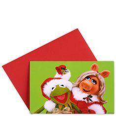CARD Kermit & Piggy    Traditionelle Weihnachtsmotive in hochwertiger fotografischer Umsetzung - da kommt festliche Stimmung auf. Die Klappkarten sind innen blank, ein passender Umschlag gehört dazu. Wählen Sie aus verschiedenen Winter- bzw. Weihnachtsmotive Ihre persönlichen Favoriten.    Größe: Breite 15,5 x Höhe 11,2 cm...