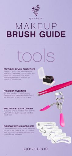 Perfect your look with the right tools from our full line of Younique makeup tools.