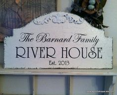FAMILY RIVER HOUSE Shabby Cottage Cabin Lake by thebackporchshoppe