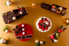 チョコ機関車が運ぶケーキにサンタ型ケーキetc. 「シェラトン・グランデ・トーキョーベイ・ホテル」のクリスマスケーキがユニーク! 千葉・浦安にある「シェラトン・グランデ・トーキョーベイ・ホテル」が、2015年11月1日(日)よりクリスマスケーキの予約受付を開始。毎年好評の「クリスマスショートケーキ」に加え、クリスマスの夜を彩る様々なケーキをラインナップしている。
