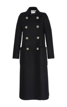 Double Breasted Long Wool Coat by MAISON RABIH KAYROUZ for Preorder on Moda Operandi