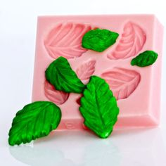 Kawaii Rose Leaf Mold make your own cabochons by MoldMeShapeMe, $5.50