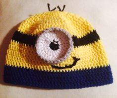 Minion crocheted kids beanie
