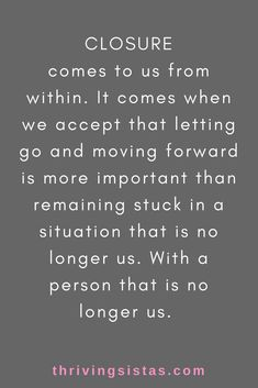 Closure must come from within - don't wait for permission from somebody else. Breakup & Divorce Recovery and Support Closure must come from within - don't wait for permission from somebody else. Breakup & Divorce Recovery and Support Breakup Quotes, New Quotes, Quotes To Live By, Life Quotes, Inspirational Quotes, Quotes About Divorce, Quotes About Moving On After A Breakup, Motivational, Breakup Advice