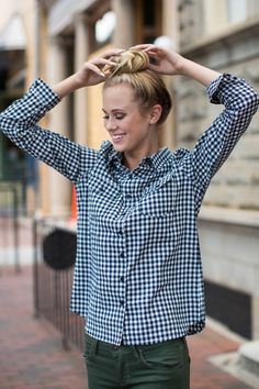 Keep it cute, classic, and chic in the Long Valley Navy Plaid Top. Worn layered or on its own, this preppy plaid will have you looking perfectly…