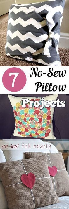 Cute and easy ways to spruce up an otherwise boring throw pillow!