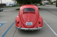 Awesome Volkswagen 2017: Coral Red 1957 Volkswagen Beetle...  Vintage European Iron Check more at http://carsboard.pro/2017/2017/04/16/volkswagen-2017-coral-red-1957-volkswagen-beetle-vintage-european-iron/