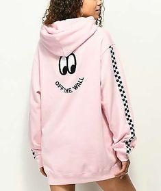 Vans x Lazy Oaf Pink Hoodie Hoodie Sweatshirts, Vans Sweater, Vans Hoodie, Pullover Outfit, Sweatpants Outfit, Sweater Outfits, Sweater Jacket, Lazy Outfits, Tumblr Outfits
