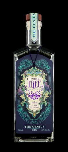 Farm to flask. Thinking Tree Spirits, Eugene OR. Most beautiful bottle I've ever seen.