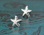 By the Seaside Bridesmaids Gifts - Sterling Silver STARFISH dainty stud earrings - Tiny - Minimalist  - posts - Sea Life. $20.00, via Etsy.