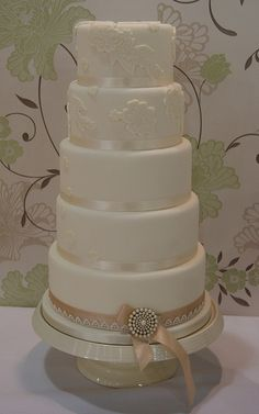 Five Tier Lace Wedding Cake | Flickr - Photo Sharing!