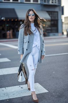 How to Wear White Jeans After the Summer | Blank Itinerary