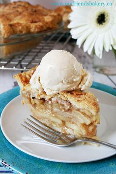 A classic, heartwarming apple pie with sharp cheddar cheese baked right into the crust.| My Friend's Bakery Full recipe