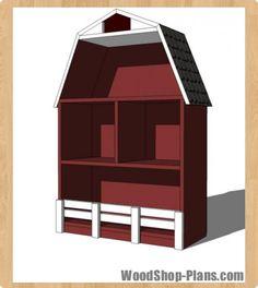 barn bookshelf woodworking plans