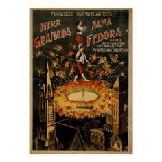 Poster do VAUDEVILLE do ato do fio alto de GRENADA