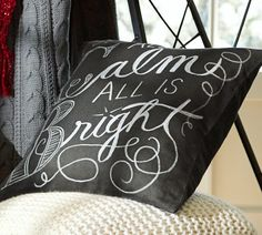 chalkboard pillow