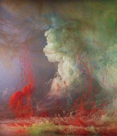 "Kim Keever original artwork Abstract 7686b, 28""x24"", 44""x38"", 2014 kimkeever.com"