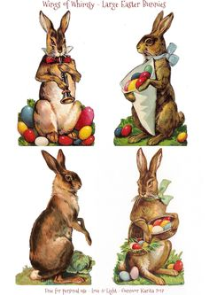 Large Easter Bunnies – Wings of Whimsy Easter Art, Easter Crafts, Easter Pictures, Diy Ostern, Easter Printables, Free Printables, Easter Parade, Bunny Art, Easter Holidays