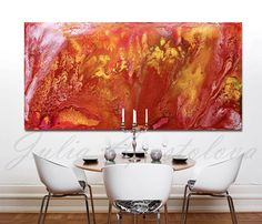 #65inch #Large #Abstract #Brown #Painting #Art #Canvas #Print by #JuliaApostolova on #Etsy