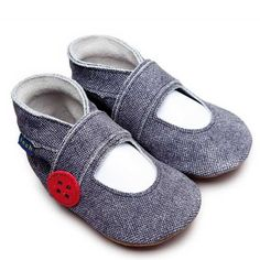 Inch Blue - Mary Jane button (denim)