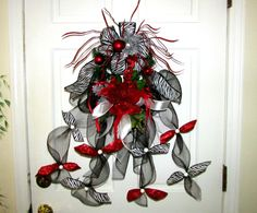 Christmas wreath Swag winter wreath door by Southernbornnblessed, $38.00