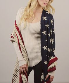Look what I found on #zulily! Knit American Flag Blanket Scarf by Leto Collection #zulilyfinds