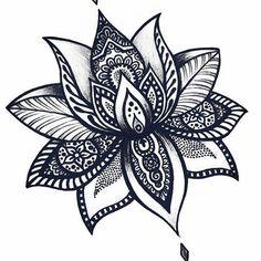 Ideas For Tattoo Lotus Flower Mandala Design Beautiful Lotus Mandala Design, Design Lotus, Lotus Mandala Tattoo, Mandala Flower Tattoos, Lotus Flower Mandala, Flower Tattoo On Side, Tattoo Flowers, Lotus Flowers, Lotus Flower Meaning