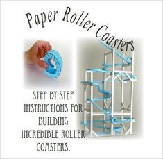 7+ Paper Roller Coaster Templates - Free Word, PDF Documents Download! | Free & Premium Templates Paper Roller Coaster, Roller Coaster Theme, Roller Coasters, Stem Projects, Science Projects, Projects For Kids, Engineering Projects, School Projects, School Ideas