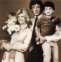 Sylvester Stallone and his first wife Sasha Czack with their two sons Seargeoh and Sage. Tragically Seargeoh is Autistic and Sage died at age 36 of a heart attack cause by Atherosclerotic coronary artery disease.