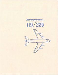 Mc Donnell Douglas 119 -220 Aircraft Memento Booklet Manual - 1960 - Aircraft Reports - Manuals Aircraft Helicopter Engines Propellers Blueprints Publications