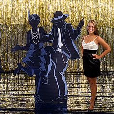 This All That Jazz Dancing Couple Standee makes a perfect accent for your or jazz themed event and it's a great photo op to pose with. Gatsby Themed Party, Great Gatsby Party, Cabaret, Harlem Nights Party, Roaring 20s Theme, 1920s Theme, 1920s Party, 1920s Wedding, Wedding Ideas