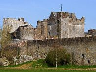 Cahir Castle is south central Ireland is one of Ireland's largest, best preserved medieval fortresses maintaining the keep, tower and defense structures from its original construction in 1142.