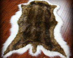 Exotic Bear Skin Rug / Deer Hide / Thick And Plush Animal Shape Pelt Rug /