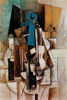 """Pablo Picasso's """"Violín en el café"""" (1913)"""