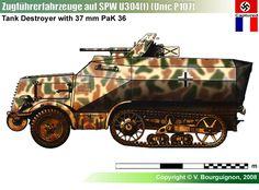 SPW U304(f) (Unic P107) mit 3.7cm Pak 36