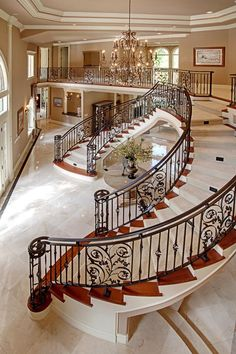 Inside Mansion - Beautiful Staircase (StartingYourOwn.net - Where Millionaire Minds Hang Out)