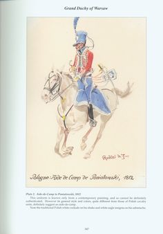 Grand Duchy of Warsaw: Plate 2. Aide de Camp to Poniatowski, 1812.
