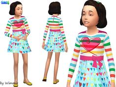 Wimmie's Sweetheart Dress Sims 4 custom content